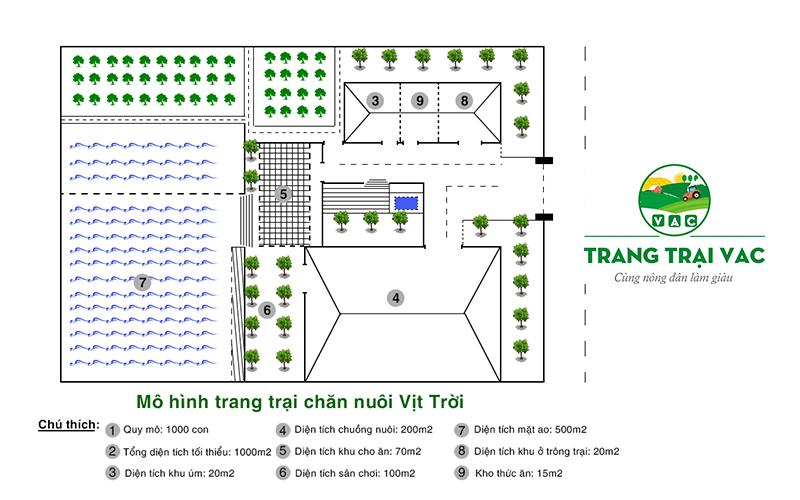 mô hình chuồng trại chăn nuôi vịt trời